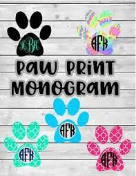 Paw Print Vinyl Decal Monogram Sticker For Car Laptop Tumbler Ebay