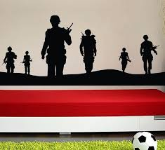 Several Army Soldiers Wall Decal Vinyl Wall Sticker For Living Room Home Decoration Decorating Decals Decorating Stickers From Onlybrand 7 04 Dhgate Com