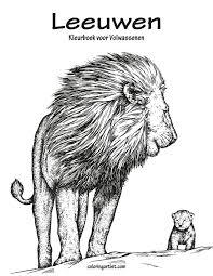 Amazon Com Leeuwen Kleurboek Voor Volwassenen 1 Volume 1 Dutch