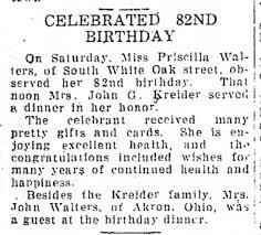 Priscilla Walters - 82nd Birthday - Newspapers.com
