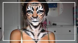 tiger halloween cosplay makeup tutorial