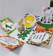 Arte Confetti Invitaciones Safari Cajitas Sorpresa Facebook