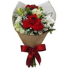 Buquê de Flores Vermelhas Aconchego   Nova Flor