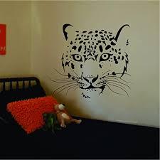 Amazon Com Leopard Face Decal Sticker Wall Vinyl Art Animal Home Kitchen