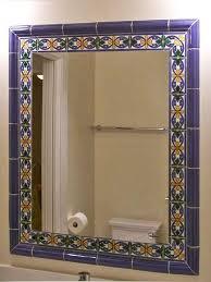 talavera tile framing mirror mexican