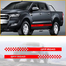 Pick Up Truck Car Side Stripes Side Skirts Graphics Decals Stickers For Nissan Navara D22 Frontier Titan Car Stickers Aliexpress