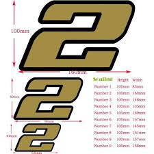 2020 Cheap Car Stickers Jkz Stkart Decal Quality Gold Matte With Black Outline Vinyl 2 Layers Number Sticker For Car Motor Bike Truck From Lkmwdkawx 1 83 Dhgate Com