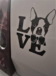 Boston Terrier Car Decal Dog Decal Laptop Decal Mackbook Etsy