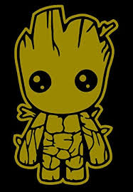 Amazon Com Stick Emall Baby Groot Guardians Of The Galaxy Vinyl Decal Gold 10 Automotive