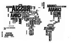 Jessie Letty World Map Wall Sticker Country Name Wall