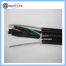 cable with supporting steel wire