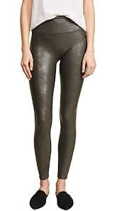 faux leather leggings rich olive medium