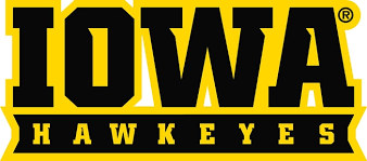 University Of Iowa Wordmark Iowa Hawkeyes