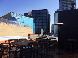 patio at simmons near the bow river