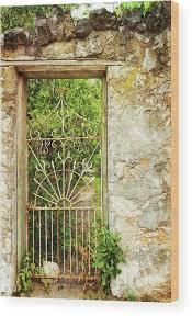 Garden Gate Wood Print by © Brigitte Smith