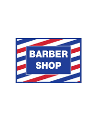 Barber Shop Vintage Print Window Decal 17 5 12 Barbersupplies Com