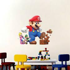 Super Mario Big Wall Decals Nintendo Wallpaper Stickers Mario Game Room E14 Ebay