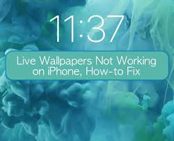live wallpapers not working on iphone
