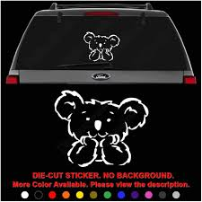 Amazon Com Cute Baby Koala Bear Animal Die Cut Vinyl Decal Sticker For Car Truck Motorcycle Vehicle Window Bumper Wall Decor Laptop Helmet Size 6 Inch 15 Cm Wide Color Gloss White