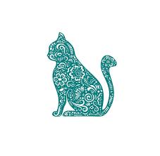 Henna Cat Kitty Fancy Decal Custom Vinyl Laptop Car Window Sticker Customvinyldecals4u