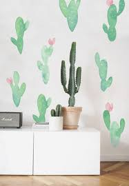Cacti Wall Decals In 2020 Cactus Wall Decal Wall Stickers Wall Decals