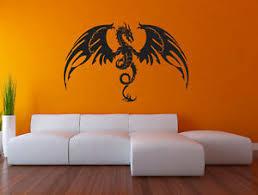 Flying Dragon Wall Decal Medieval Tales Fantasy Monster Vinyl Sticker Art Rv49 Ebay