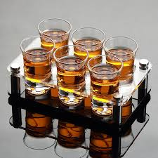 6 pcs drop shot glass with cup holder