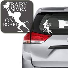 Amazon Com Auqion Lion King Decal Baby Simba On Board Rafiki Lion King Decal Sticker For Car Window Laptop Nursery Vinyl Decal Home Kitchen