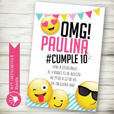 Kit Imprimible Emojis Emoticones Invitacion Candybar 430 00 En