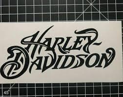 Harley Wall Decal Etsy