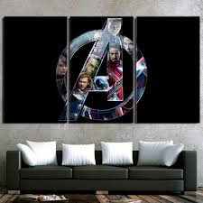Marvel The Avengers Cool Symbol Superheroes 3pcs Canvas Print Saiyan Stuff
