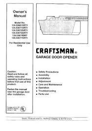 139 53671srt1 craftsman garage door opener