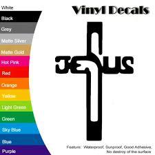 Cross Vinyl Decal Sticker Car Window Wall Bumper Jesus God Religion Christian Sticker Skateboard Truck Truck Tieh 6 Inches 8 Inches 10 Inches 12 Inches Wish