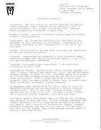 MSS 853 Adeline Hagerman - Page 1 - Ohio History Connection Finding Aids  Collection -