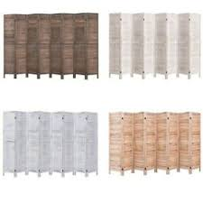 New 5 6 Ft Wood Room Divider Folding Screens Panel Privacy Wall Divider 8 Panels Ebay