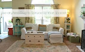 use area rugs on carpet to spruce up