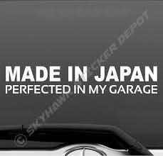 Made In Japan Barcode Turbo Decal Funny Car Vinyl Sticker Jdm Window Import Ill Ebay Vinyl Bumper Stickers Funny Bumper Stickers Truck Bumper Stickers