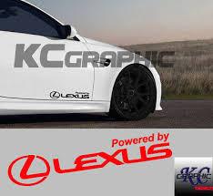 Power By Lexus Logo Decal Sidedoor Vinyl Decal Sticker Lexus Emblem A Pair Ebay