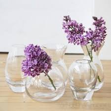 shape 3 unique clear glass flower vase