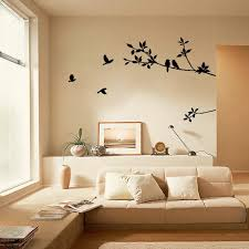 Black Tree Branch Lovely Bird Art Wall Stickers For Kids Study Room Tv Wallpaper Mural Stairs Stickers Bedroom Decoration Poster Wall Stickers Aliexpress