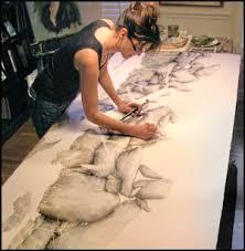 Hillary Parker in her studio | Artistic space, Artist at work, Studio