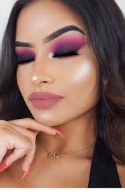 amazing pink and black eye makeup