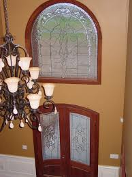 beveled glass front doors leaded