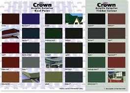 Resene Paints Ltd Resene Crown Roof Colour Chart