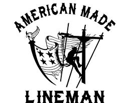 American Made Lineman Vinyl Decal