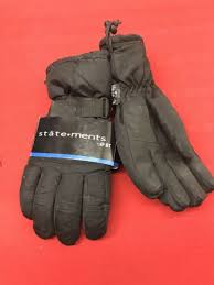 black leather gloves by statements bt