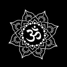 Lotus Flower Decal Car Window Laptop Namaste Yoga India Om Vinyl Sticker Wish