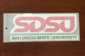 True Vintage 1980 S Sdsu San Diego State Window Decal Sticker Aztecs Alumni Pb 1734073972