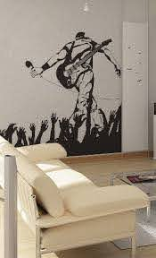 Rockstar On Stage Uber Decals Wall Decal Vinyl Decor Art Sticker Removable Mural Modern A230 On Etsy 52 Music Wall Decor Music Room Decor Musical Wall Art