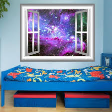 Deep Space Wall Decal Mural Peel And Stick Window Frame Etsy